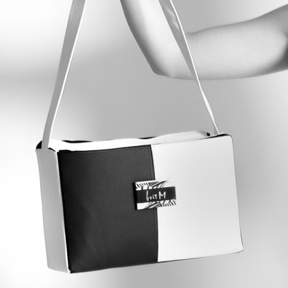 Unique bag black and white