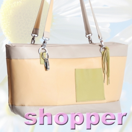 Shopper aus Leder